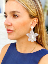 Load image into Gallery viewer, Orchid Earrings - White