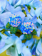 Load image into Gallery viewer, Hydrangea Studs - Blue