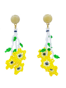Daisy Earrings - Yellow