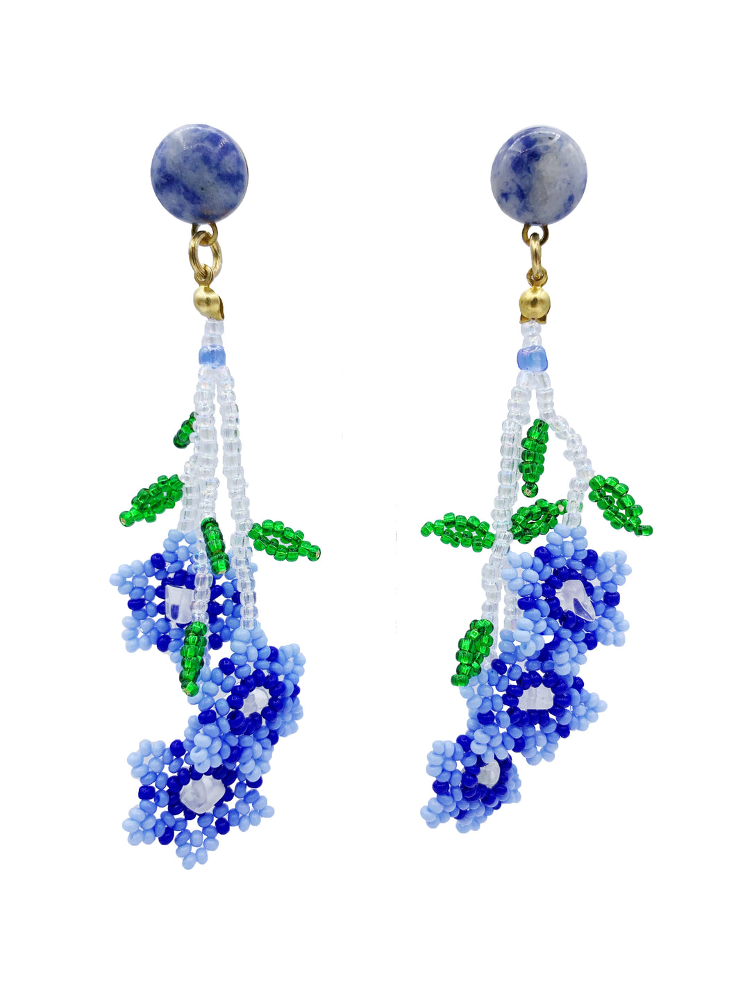 Daisy Earrings - Periwinkle