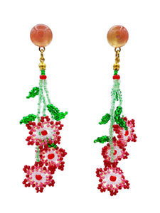 Daisy Earrings - Red