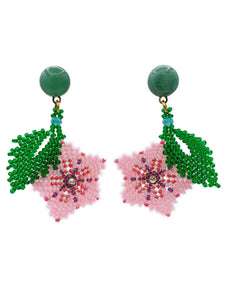Hibiscus Earrings - Aventurine