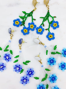 Daisy Earrings - Blue