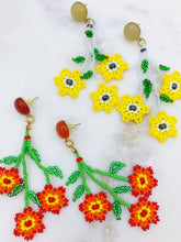 Load image into Gallery viewer, Daisy Earrings - Orange