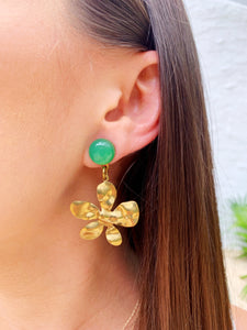 Zinnia Earrings - Aventurine