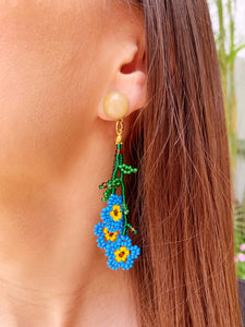 Daisy Earrings - Orange