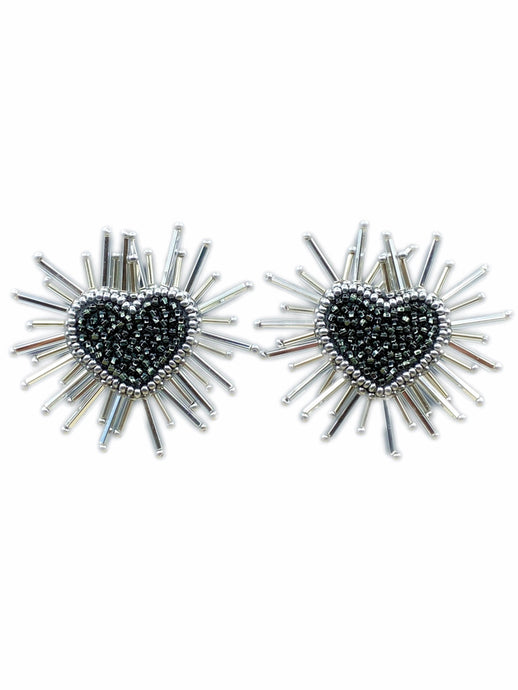 Corazón Earrings - Noir