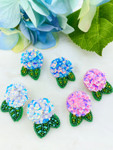 Load image into Gallery viewer, Hydrangea Studs - Pink