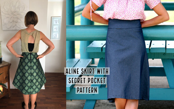 Aline skirt pattern with sewing lessons online