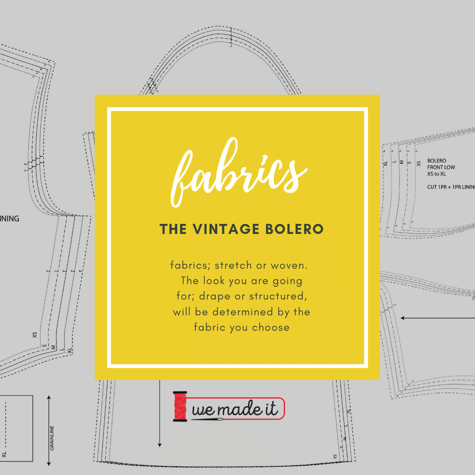 fabric required for vintage bolero pdf pattern