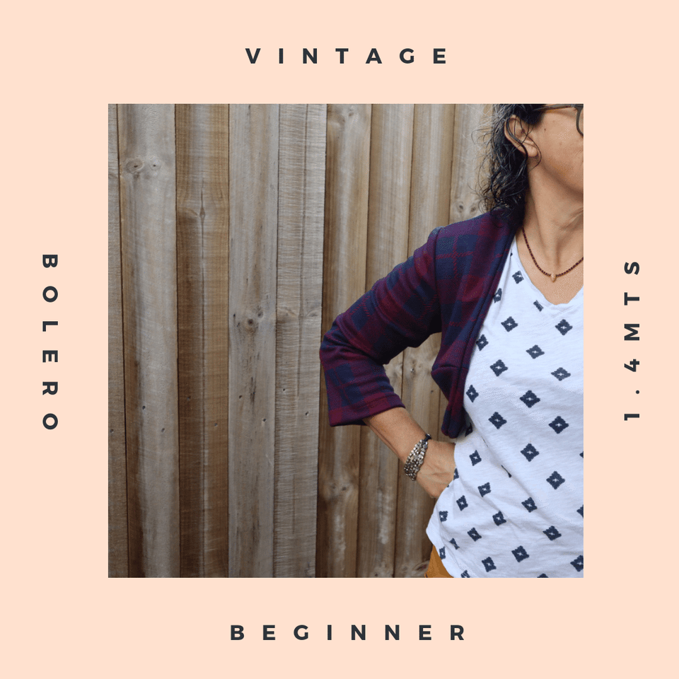 learn to sew with our vintage bolero pdf pattern