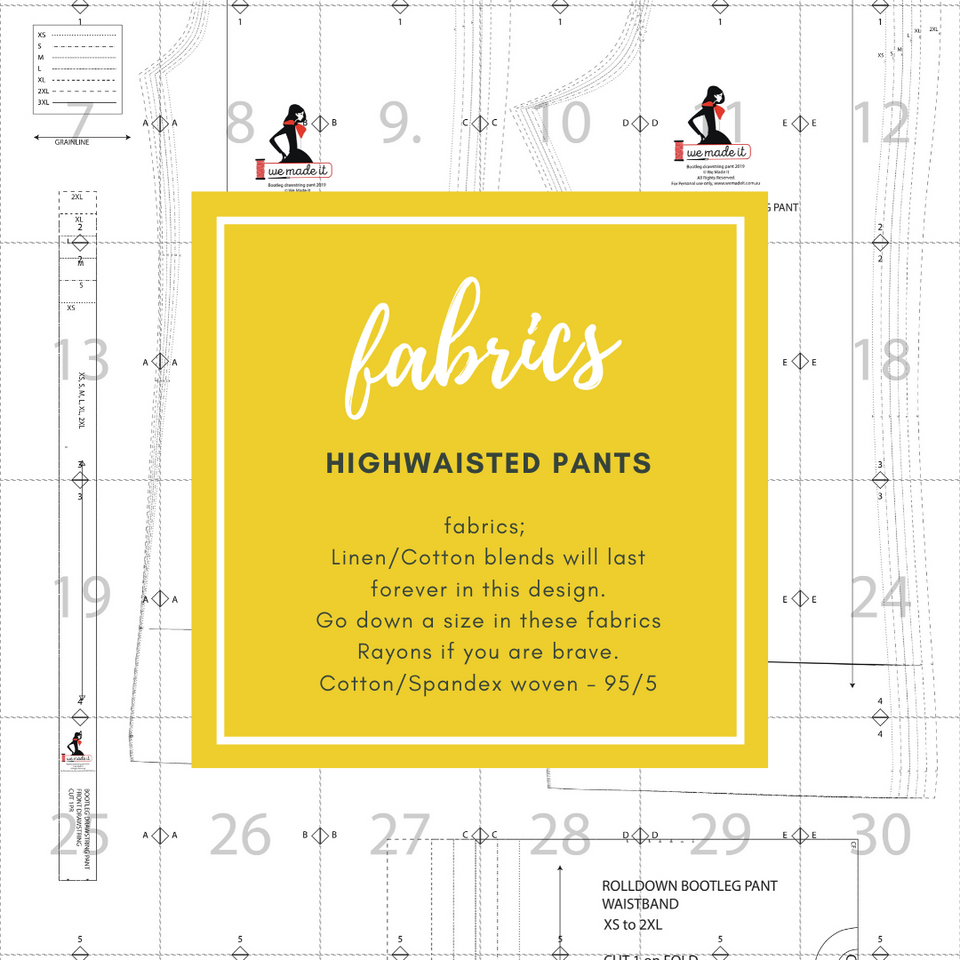 Highwaisted Palazzo Pants Pattern Plus Size Included