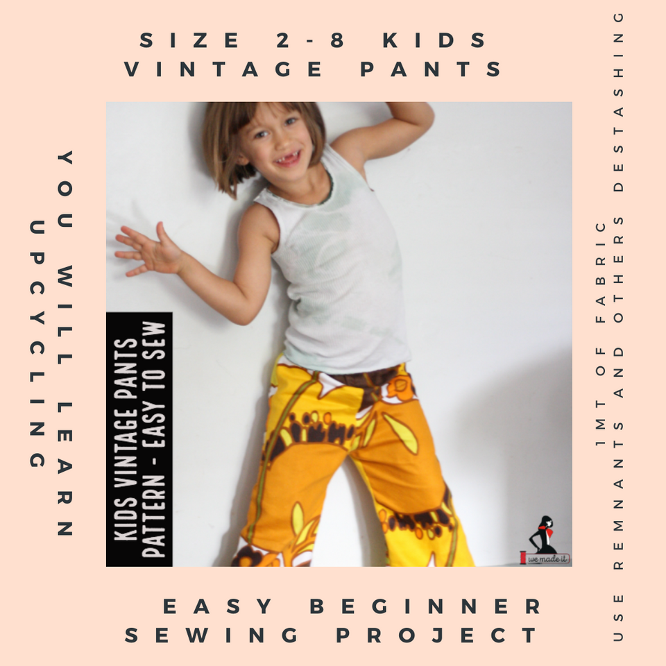 Vintage Kids Pants Pattern