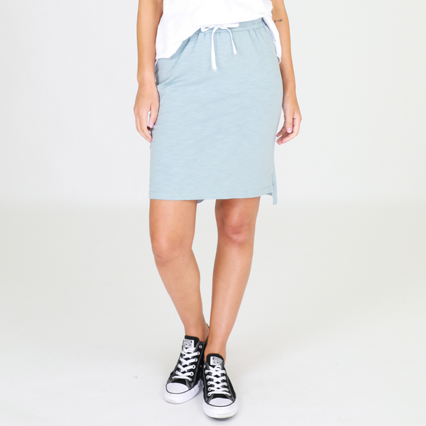 Alice Cotton Skirt (Mint Blue)