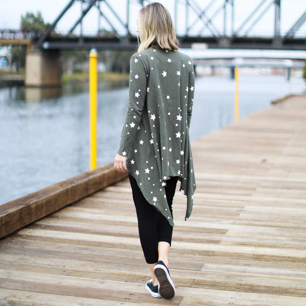 Galaxy Star Cardigan (Khaki)
