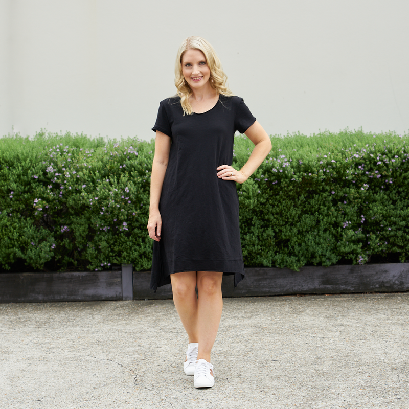 Megan Cotton Dress (Black)