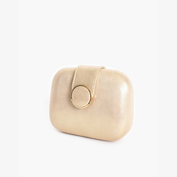Circle Clasp Clutch (Gold)