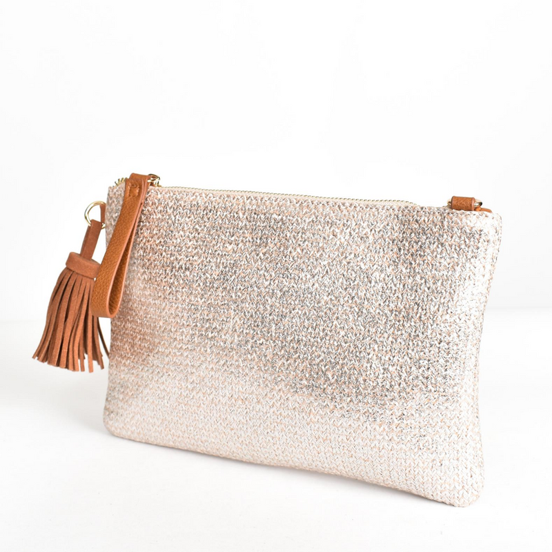Disco Metallic Crossbody Bag (Silver)