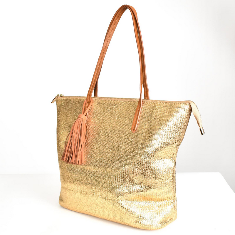 Disco Metallic Tote (Gold)
