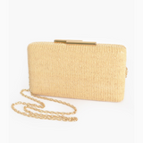 Faux Weave Clutch (Tan)