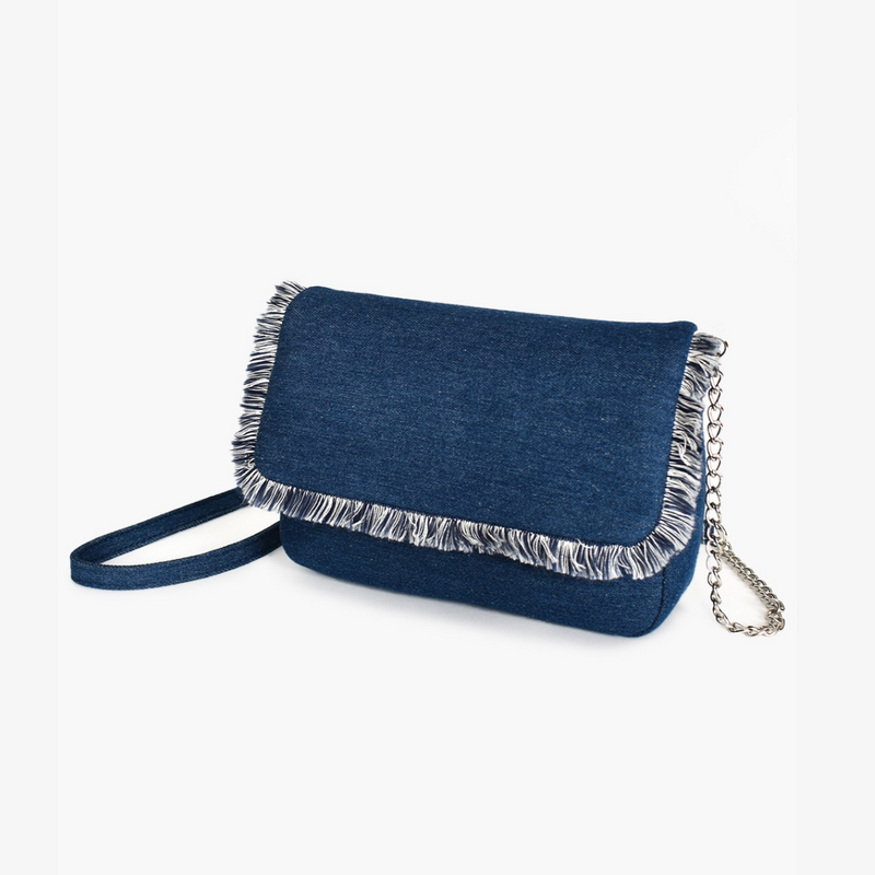 Frayed Denim Handbag