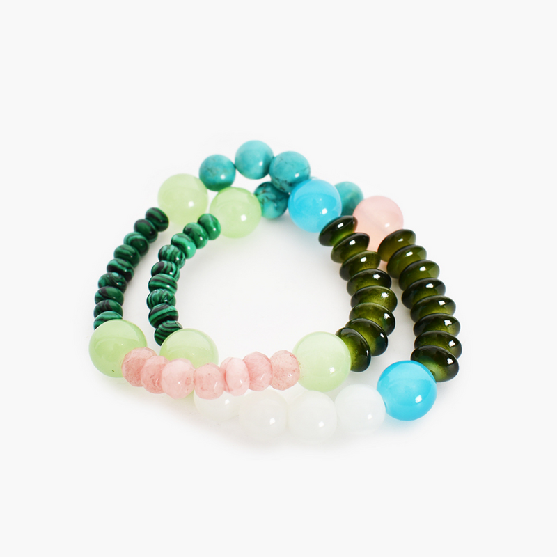 Mix Bead Bracelet Set (Green)