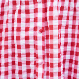 Monica Gingham Dress (Red)