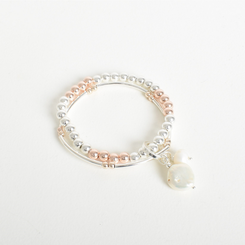 Pearl Duo Stretch Bracelet