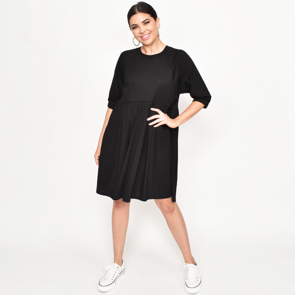 Tilly Jersey Dress (Black)
