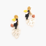 Toucan Resin Earrings