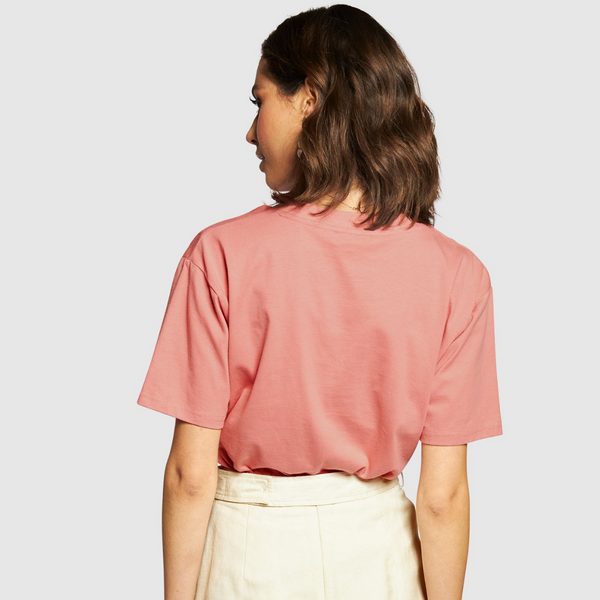 Apero Embroidered Tee (Dusty Pink/Cream)