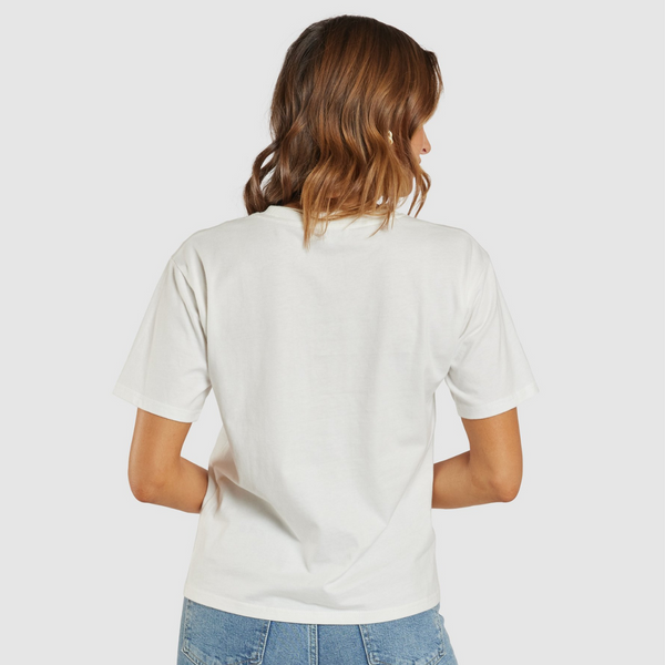Apero Journey Embroidered Tee (White/Multi)