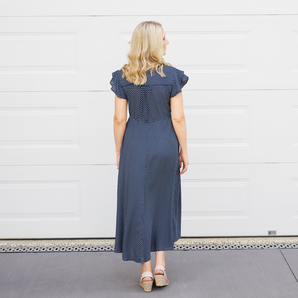 Charnie Spotted Dress (Navy)