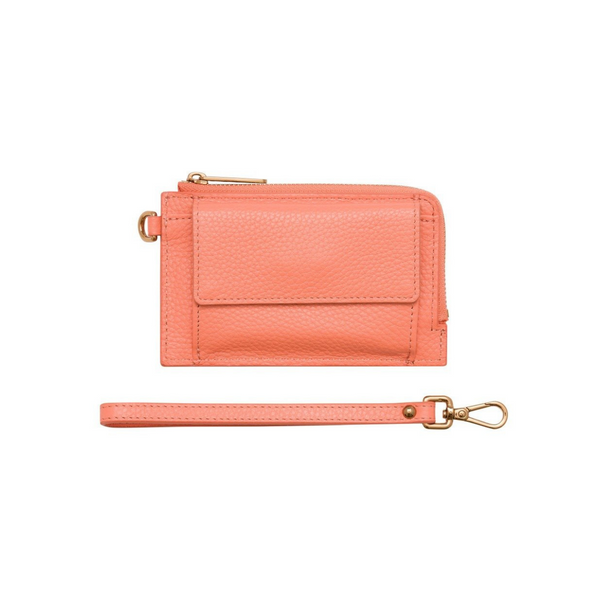 Bon Maxie Mighty Mini Leather Wallet (Peach)