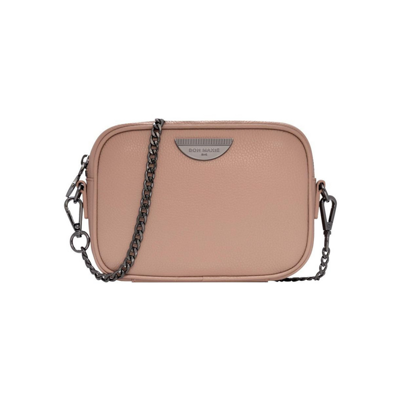 Bon Maxie Mini Side Kick Leather Bag (Milk Tea/Gunmetal)