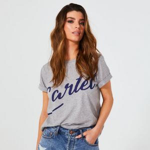 Cartel & Willow Script Tee (Grey)
