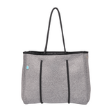 Mini Neoprene Tote (Charcoal)