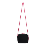 Neoprene Crossbody Bag (Black/Pink)