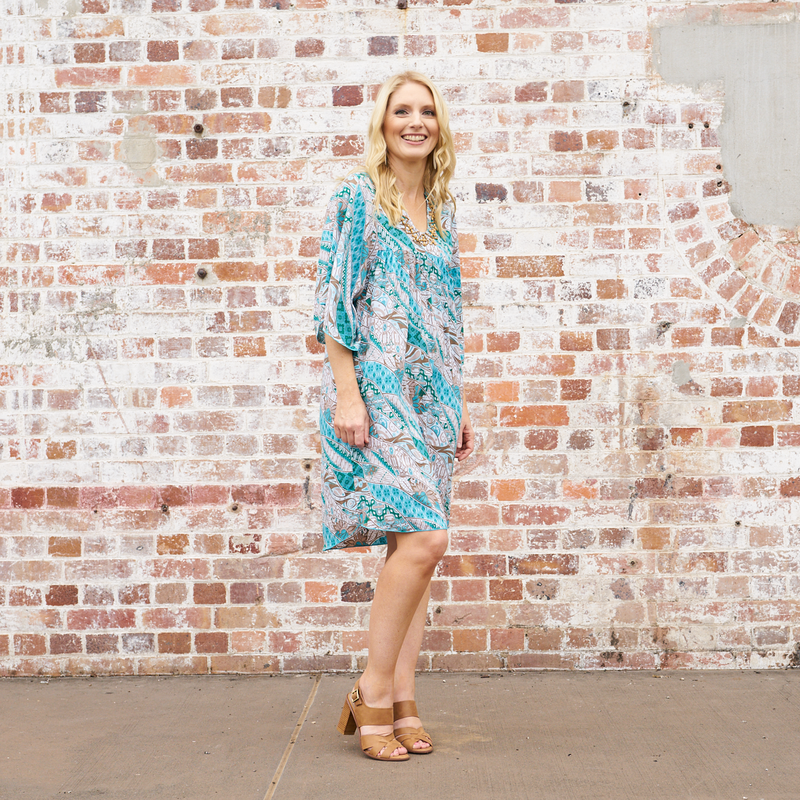Luxe Beaded Tunic Dress (Whitehaven)