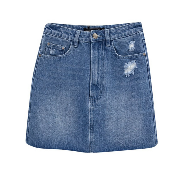 Ashton Denim Skirt (Mid Wash)
