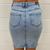 Bree Denim Skirt (Acid Wash)