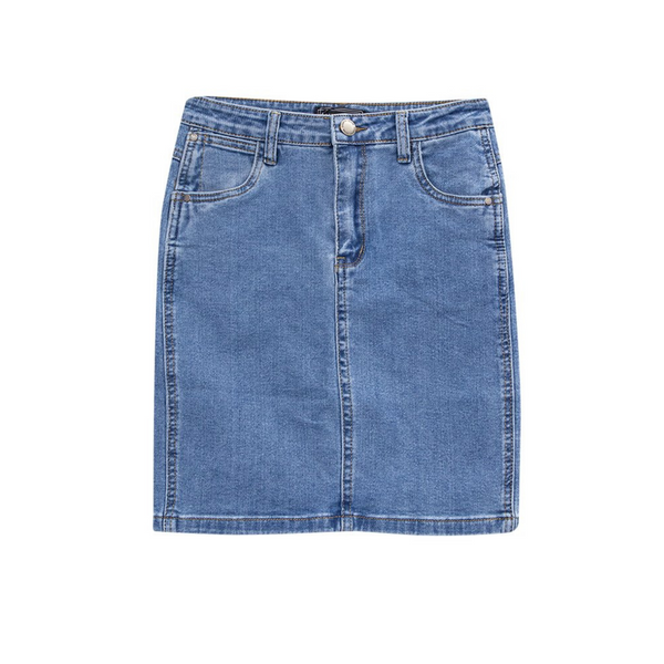 Fonda Denim Skirt (Mid Wash)