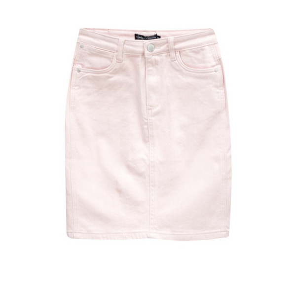 Nadia Denim Skirt (Pink)