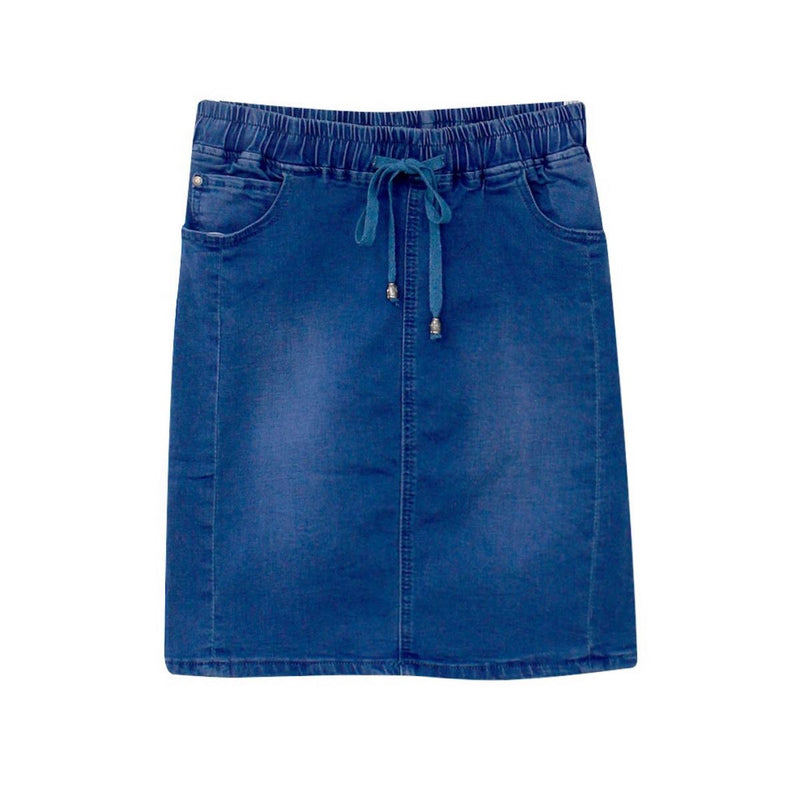Holiday Denim Skirt (Mid Blue)