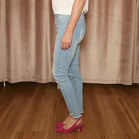 Liana Distressed Jeans (Light Wash)