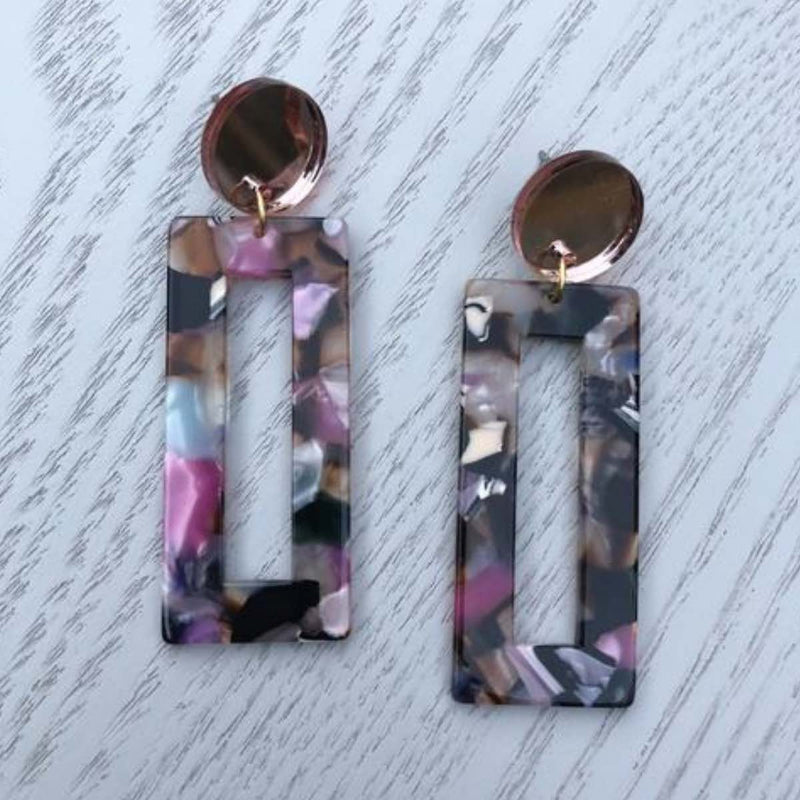 Multi Rectangle Earrings
