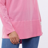 Elm Fundamental Rib Long Sleeve Tee (Pink)