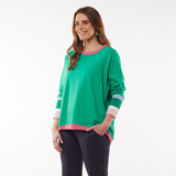 Elm Peaches Crew Sweater (Green)