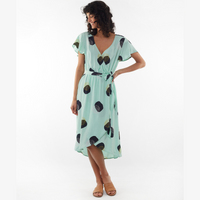 Elm Sally Spot Wrap Dress