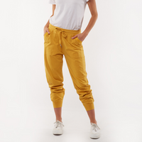 Elm Wish You Were Here Jogger Pants (Mustard)